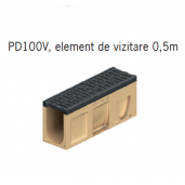 Element de vizitare Monoblock PD 100 cu gratar si muchii din fonta  50x15x24 cm