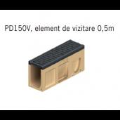 Element de vizitare Monoblock PD 150 cu gratar si muchii din fonta  50x20x28 cm