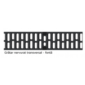 Gratar nervurat transversal XtraDrain 150 din fonta 50x17.3 cm