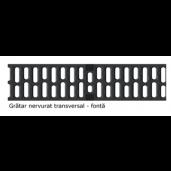 Gratar nervurat transversal XtraDrain 200 din fonta 50x22.3 cm