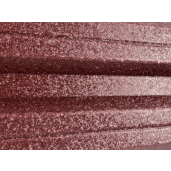 Set 25 buc Sipca Metalica Orizontala Gard V-Mat Structurat Visiniu 0.50 mm