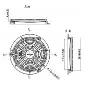 Capac compozit rotund 80 cm D400 (sistem inchidere)