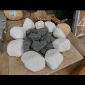 Marmura Rotunjita Alba Thassos 13-25 cm