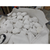 Marmura Rotunjita Alba Thassos 1-3 cm, Big Bag 1500 kg