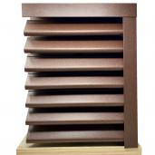 Panou gard Piramida, profil cu gauri 250x123x0.045 cm Mat BGM