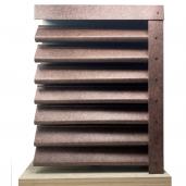 Panou gard Piramida, profil cu clipse si gauri 250x149x0.04 cm Imitatie Piatra Granit Imperial