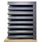 Panou gard Piramida, profil cu clipse si gauri 250x123x0.05 cm V-Mat Structurat