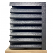 Panou gard Piramida profil cu gauri 200x123x0.05 cm V-Mat Structurat