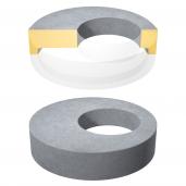 Placa de acoperire si reductie pentru camine cu gol D 127 di 80 H 20 cm