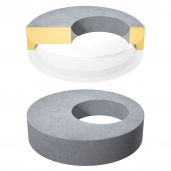 Placa de acoperire si reductie pentru camine cu gol D 138 di 100 H 20 cm