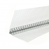 Profil de colt din aluminiu 250x2.5x2.5 cm, cu plasa 2x7 cm