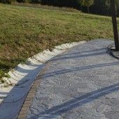 R9 Sant Trapezoidal Prefabricat Din Beton 33x59(sus)x35(jos)x25 cm, Gri Ciment
