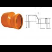 Reductie PVC cu inel etansare D160/110