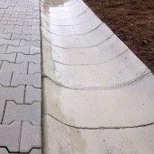 R5 Sant Trapezoidal Prefabricat Din Beton 33x76(sus)x54(jos)x24 cm, Gri Ciment