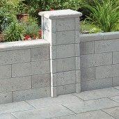 Bradstone Argento Dala Capac Stalp 35x35x5 cm, Gri Argintiu Nuantat