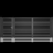 Set poarta metalica auto si pietonala model 11, 450x180 cm