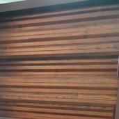 Set 25 buc Sipca Metalica Orizontala Gard Imitatie Lemn Mahon 0.40 mm
