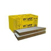 Vata minerala bazaltica ISOVER PLU 100 cu aluminiu, 100x60x10 cm (3.6 mp)