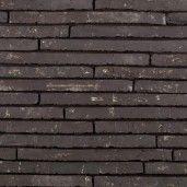 Placaj klinker Terca Wasserstrich Special Zwart, 49.5x3.8x2.3 cm