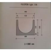 Rigola Filcoten light LN 150, 100x18x15 cm, cu scurgere, fara panta